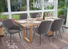 6x esszimmerstuhl hwc d35 stuhl küchenstuhl stoff textil retro dunkelgrau