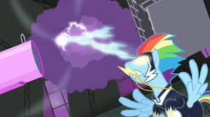 Rainbow Creates Lightning Storm S4E06