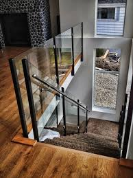 Picture Gallery Of Our Custom Glass Railings (Interior, Exterior ... Modern Glass Stair Railing Design Interior Waplag Still In Process Frameless Staircase Balustrade Design To Lishaft Stainless Amazing Staircase Without Handrails Also White Tufted 33 Best Stairs Images On Pinterest And Unique Banister Railings Home By Larizza Popular Single Steel Handrail With Smart Best 25 Stair Railing Ideas Stairs 47 Ideas Staircases Wood Railings Rustic Acero Designed Villa In Madrid I N T E R O S P A C