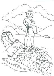 Daniel Lions Den Coloring Sheet In The Colouring Pictures Ii Bible Page