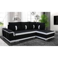 canapé noir et blanc convertible canapé d angle convertible amelie tissu noir et blanc agnle