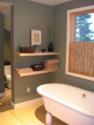 Floating Shelves Bathroom Contemporary With Light Tone Wood White Moulding