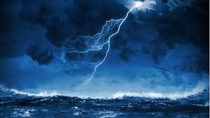 Ocean Thunderstorm Sound With Rain Thunders Seagulls Shiphorns Howling Wind