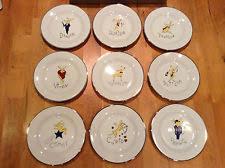 Pottery Barn Reindeer Dessert Plates