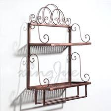 Detail Wrought Iron Wall Shelves Bathroom Decor Ideas M2696212