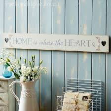 Home Is Where The Heart 995 GBP Shabby Chic Wall Signs