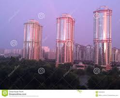 100 Mirax Moscow Stock Photo Image Of Sunset Mirax Rain Towers 56955846