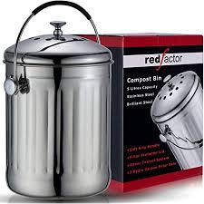 factor premium kompostbehälter küche aus edelstahl
