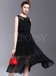 sleeveless silk a line dress dress online silk and shopping