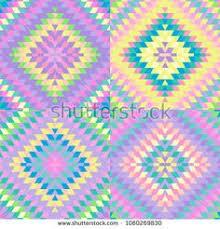 Seamless Pattern Turkish Carpet Pink Blue Lilac Purple Beige Patchwork Mosaic Oriental Kilim Rug