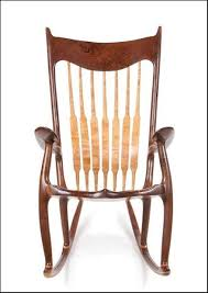 Sam Maloof Rocking Chair Class by Walnut Curly Cherry Rocking Chair By Scott Shangraw