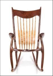 Sam Maloof Rocking Chair Video by Walnut Curly Cherry Rocking Chair By Scott Shangraw