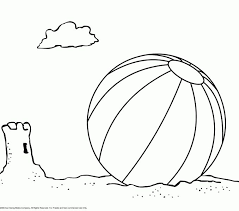 Beach Ball Coloring Page Free Pages On Art Online