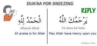 dua for sneezing and its reply quran2hadith