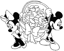 Mickey And Minnie Easter Disney Coloring Pages