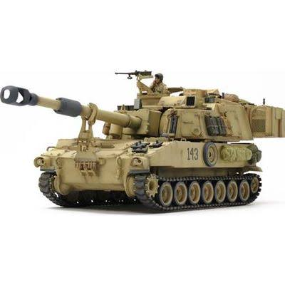 Tamiya 37026 Italeri US Self-Propelled Howitzer M109A6 Kit - 1/35 Scale
