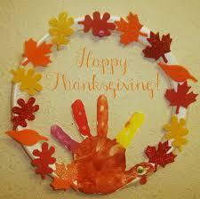 Thanksgiving Wreath Kids Craft Turkey Hand Print Art