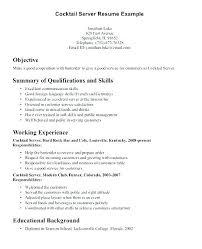 Restaurant Waiter Resume Restaurant Waitress Resume Waiter Resume