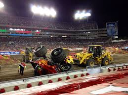 Monster Jam Trucks Flip For Ring Power Machines!