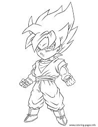 Dragon Ball Z Super Saiyan Free Coloring Page Pages