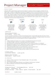 Construction Project Manager Resume Template Management Jobs