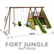 jeux de cuisine jeux de la jungle aire de jeux bois 5 agrès toboggan balançoire cabane fort