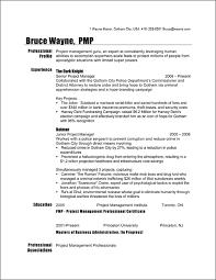 Him Resume Template Batman Project Manager Sample Management