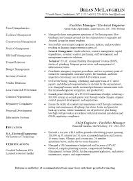 Facility Manager Electrical Engineer Resume