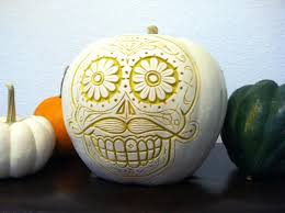 Sugar Skull Pumpkin Carving Patterns by 17 People Who Took Pumpkin Carving To A Whole New Level