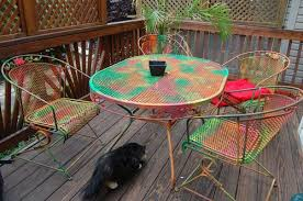 Decor of Painting Patio Furniture Ideas Painting Rusted Metal