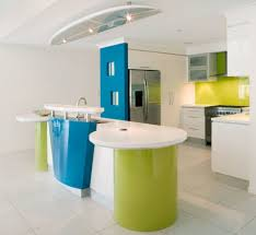 Inspiring Small Modular Kitchen Decoration Idea Incredible Modern Using Light Green