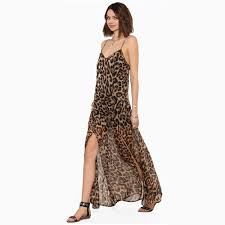 compare prices on leopard print chiffon maxi dress online