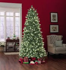 Ge Artificial Christmas Trees by Ge 28746sr 7 5 U0027 500 Light Winter Frost Pine Christmas Tree