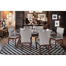 Dining Room Enchanting City Furniture Sets Glass Table Six Chairs