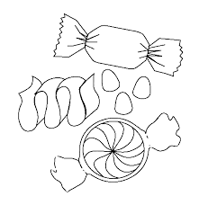 A Small Packet Of Sweet Candy Coloring Pages