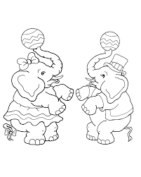 Dancing Elephant Circus Coloring Pages
