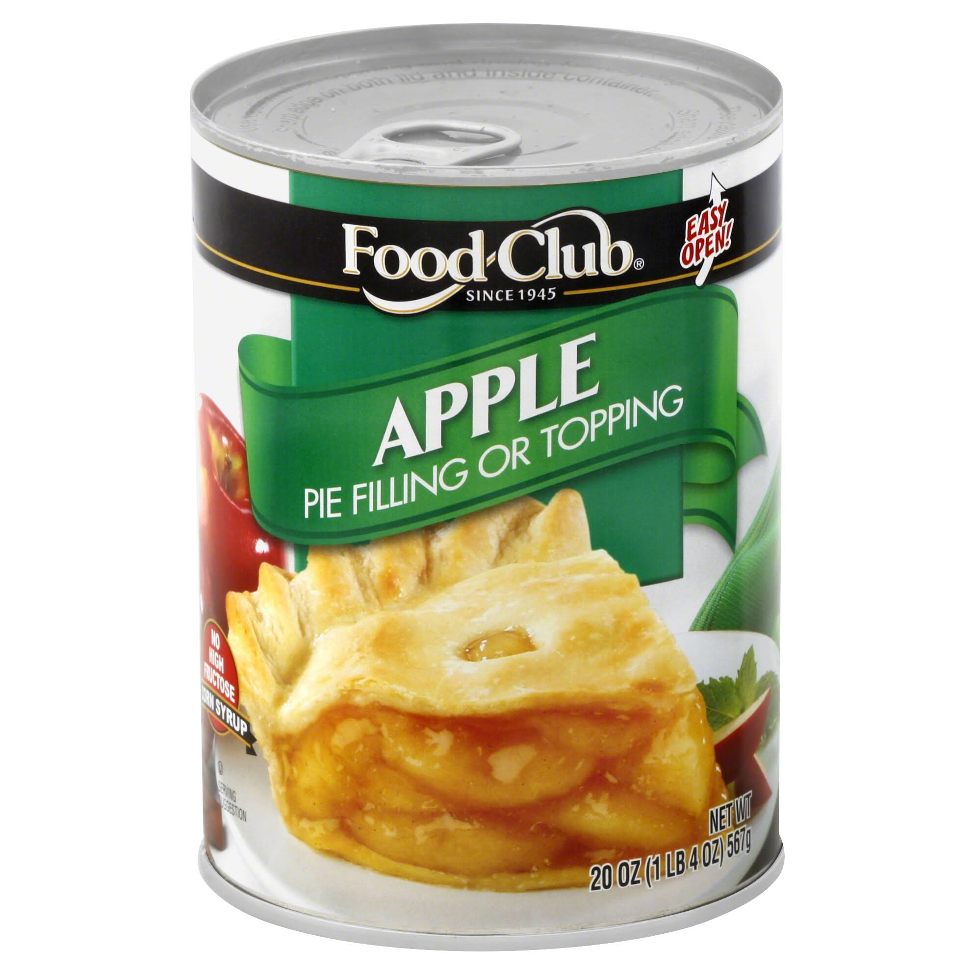 Food Club Pie Filling or Topping, Apple - 20 oz