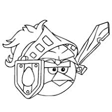 Angry Birds As A Soldier Big Puzzle Picture Printable To Color
