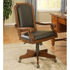 Acrylic Desk Chair On Casters by Classic Cherry Upholstered Desk Chair By Winners Only Wooden