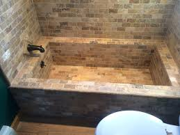 installing tile above bathtub 12x24 tile patterns bathtub how to