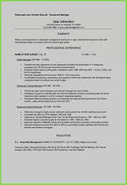 New Resume Template Restaurant Manager Elegant Grapher Sample Beautiful Quotes 0d