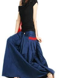 idea2lifestyle women u0027s long linen maxi skirt indigo blue at amazon