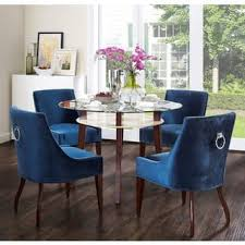 Clearance Dover Blue Velvet Chair