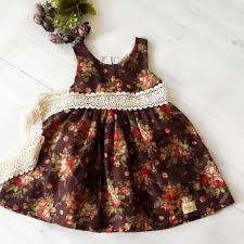 Fall Wedding Flower Girl Dress Rustic Style Linen And La