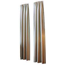 shop allen roth alison 84 in l stripe blue rod pocket curtain