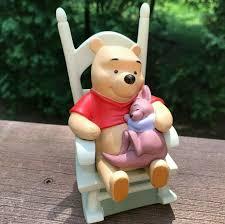 Disney Winnie The Pooh-Roo Figurine Baby Rocking Chair