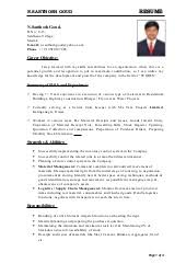 Grocery Store Manager Resume Template Anuvrat Info