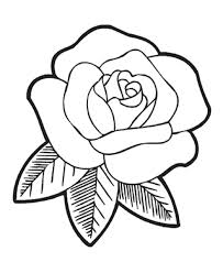Trendy Coloring Pages Draw Easy Flowers Rose Flower Pagesgif Full Version