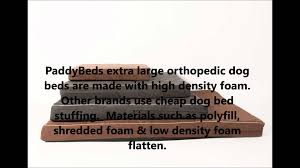 Extra Large Orthopedic Dog Bed by Dog Beds For Abruzzese Mastiff Youtube