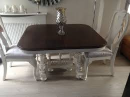 Henry II French Dining Table And 2 Chairs